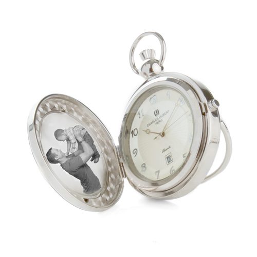 Charles Hubert Paris Photo Insert Engravable Pocket Watch  inset 1