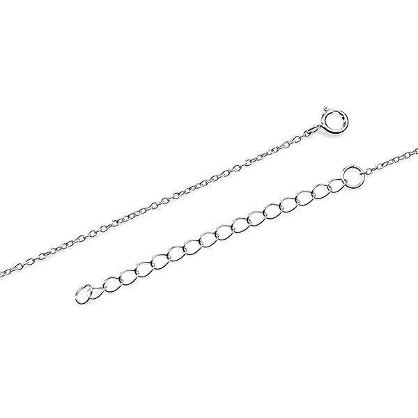 Sterling Infinity Engravable Heart Necklace inset 3