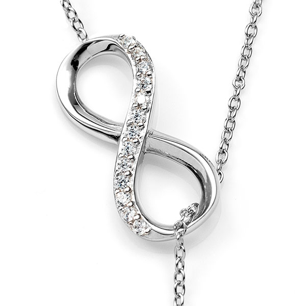 Sterling Infinity Engravable Heart Necklace inset 1