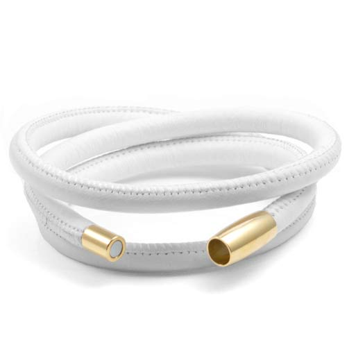 Echo White Soft Leather Multi Wrap for Gold Charms inset 1