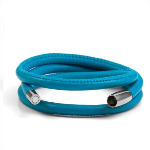 Echo Turquoise Soft Leather Multi Wrap for Silver Charms inset 1