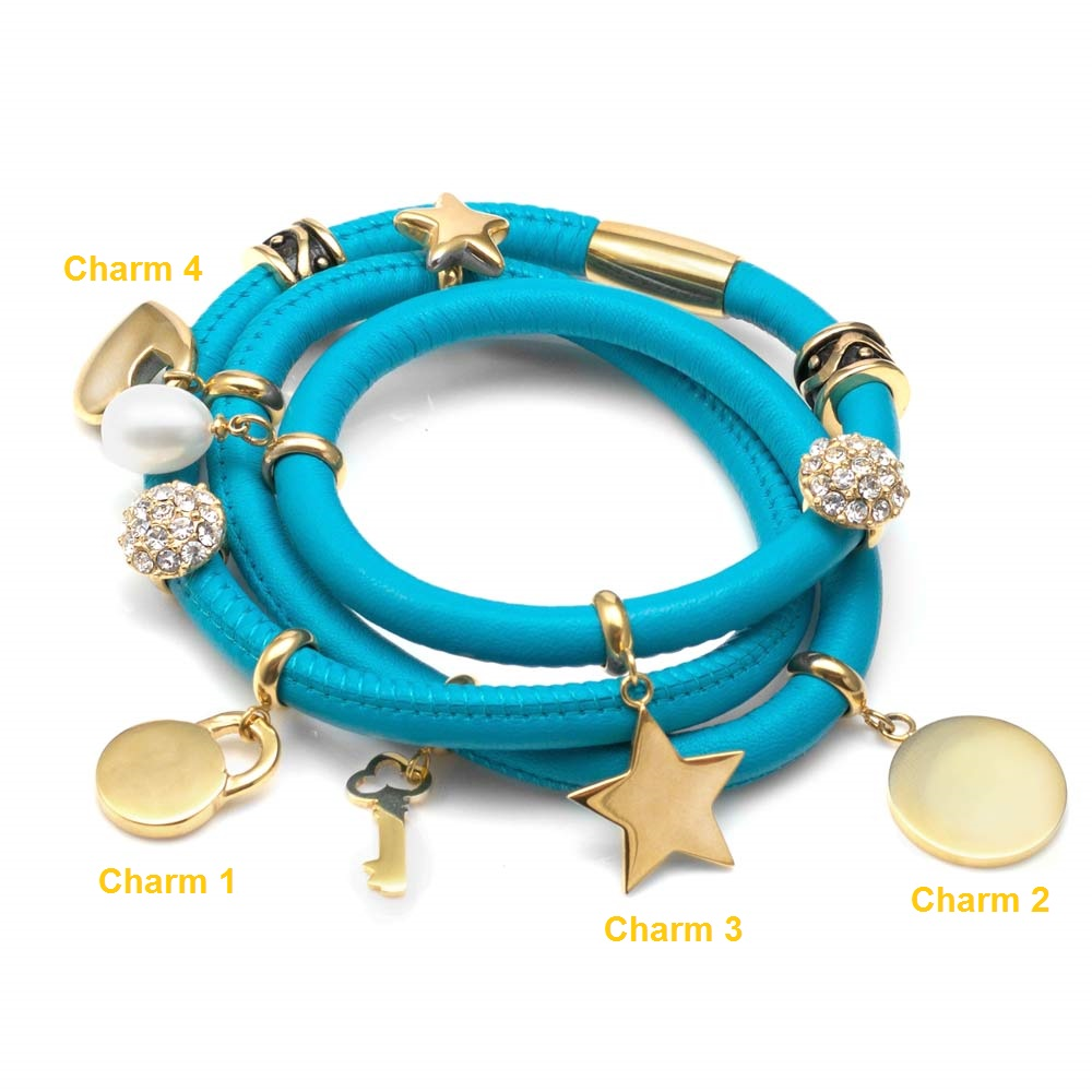 Echo Soft Leather Gold Charm Wrap - Deluxe Deal inset 5