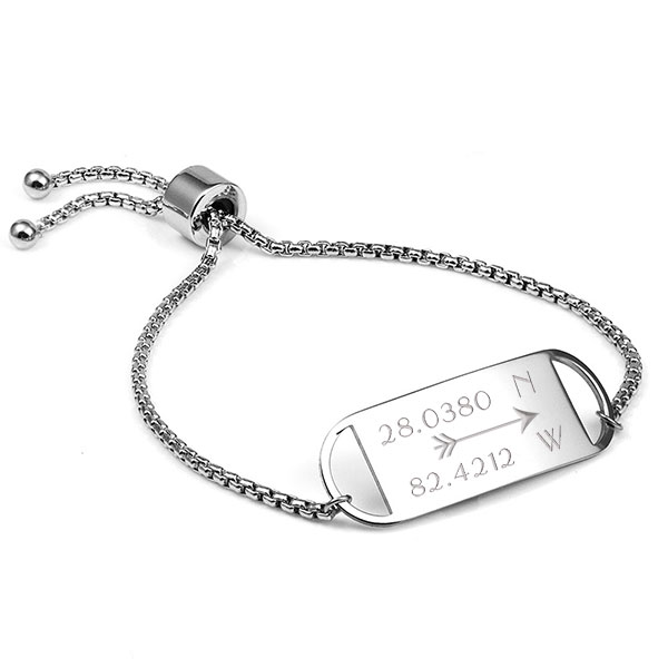 Smart Adjustable Engravable Bracelet For Her inset 1
