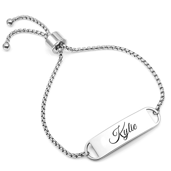 Kylie Adjustable Engraved Bracelet For Her inset 2