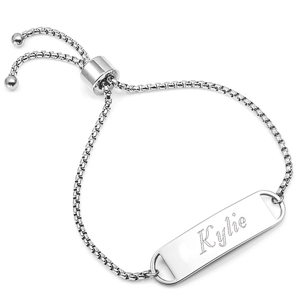 Kylie Adjustable Engraved Bracelet For Her inset 3