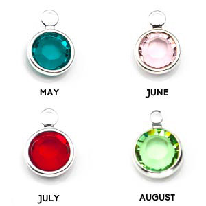 Silver Personalized Birthstone Necklace Pendants inset 2