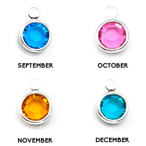 Silver Personalized Birthstone Necklace Pendants inset 3