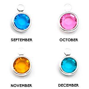 Pretty Personalized Birthstone Jewelry Charm inset 3