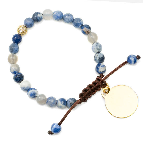 Ocean Blue Adjustable Sodalite Bracelet inset 1