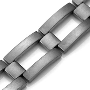 Brushed Titanium Personalized Bracelets for Him inset 1