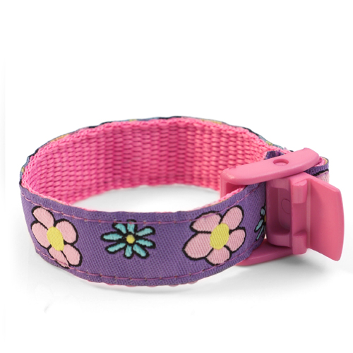 Flower Garden Strap for Slide On ID Tags LG Fits 4 - 8 Inch inset 1