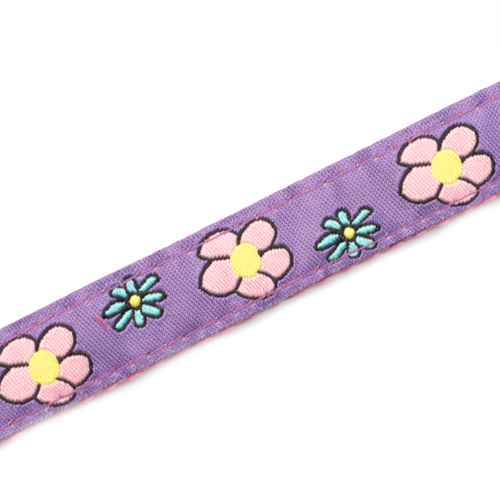 Flower Garden Strap for Slide On ID Tags LG Fits 4 - 8 Inch inset 4