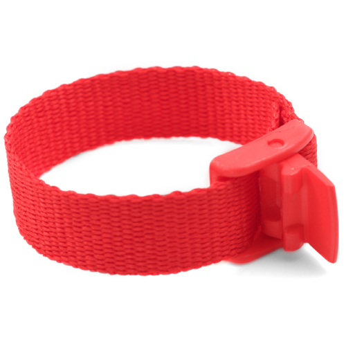 Red Strap for Slide On ID Tags LG Fits 4 - 8 Inch inset 1