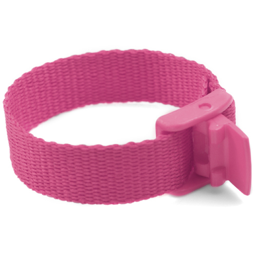 Pink Strap for Slide On ID Tags SM Fits 4 - 6 Inch inset 1