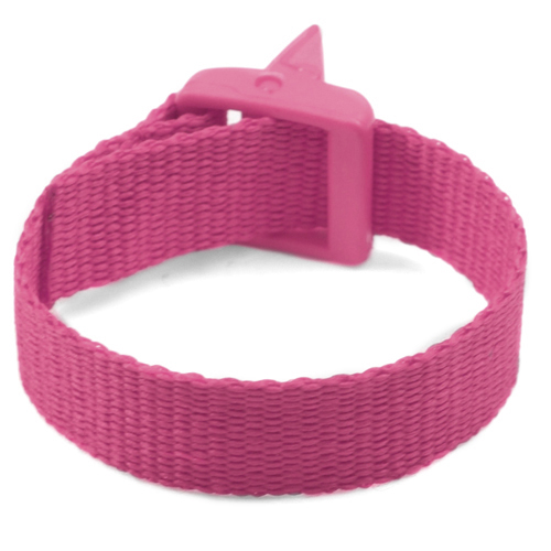 Pink Strap for Slide On ID Tags SM Fits 4 - 6 Inch inset 2