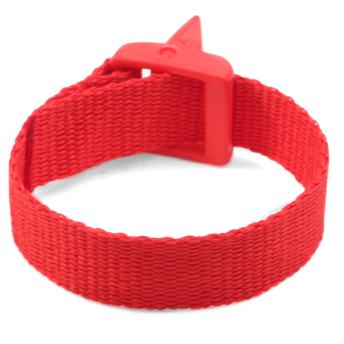 Red Strap for Slide On ID Tags SM Fits 4 - 6 Inch inset 2