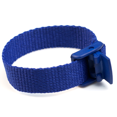 Blue Strap for Slide On ID Tags SM Fits 4 - 6 Inch inset 1