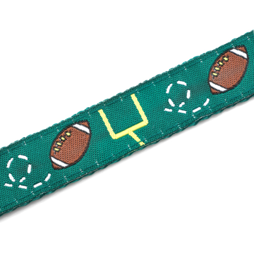 Football Strap for Slide On ID Tags LG Fits 4 - 8 Inch inset 3