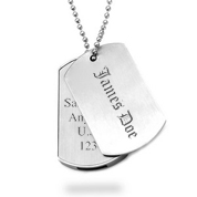 Tech Me Out USB Engraved Dog Tags