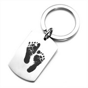 Baby Footprints Custom Keychains