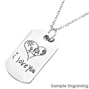 Personalized Dog Tag Necklace with Handwriting