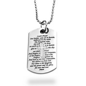 Prayer Messages Stainless Dog Tag Large Pendant