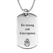Custom Dog Tag Style Engraved Necklace