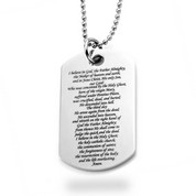Apostles Creed Stainless Large Dog Tag Pendant