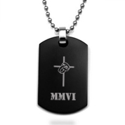 Black Steel Custom Dog Tag Pendant