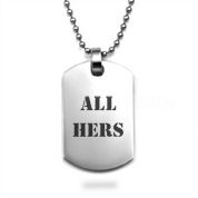 Engraved Silver Dog Tag