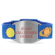 Out of This World Bracelet with Safety ID Tag for Kids