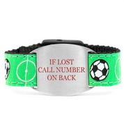 Goooal Bracelet with Safety ID Tag for Children