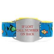 Finding Fishes Bracelet with Safety ID Tag for Kids
