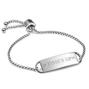 Times UP Adjustable Personalized Bracelet For Her