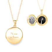Charming Gold Round Locket Necklace