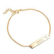 Adjustable Gold Bar Personalized Bracelet for Her