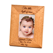 Alder Wood Personalized Picture Frame for 4 x 6 In Photo