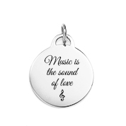 Ari Personalized Silver Round Charm or Pendant