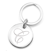 Sterling Silver Engraved Keychains Tag