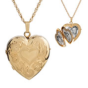 14K Gold Filled 4 Pic  Engraved Locket