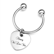 Heart Charm Personalized Keychains