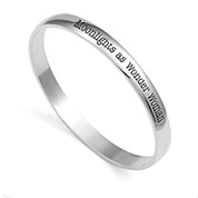 Brilliant Silver Bangle Personalized Bracelets for Her