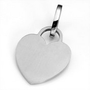 MD Brushed Stainless Heart ID Tag for Purses, Pets, & More