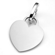 LG Polished Stainless Heart ID Tag for Purses, Pets, & More