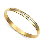 Gold Bangle Personalized Bracelets for Her