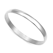 Brilliant Silver Bangle Engravable Bracelets for Her