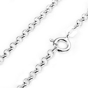 2.6mm Sterling Silver Rolo Chain 16 - 20 inch