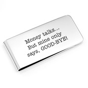 Silver Engraved Money Clip 2 x 1 inch