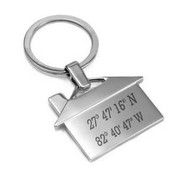 Angel House Custom Coordinates Key Chain
