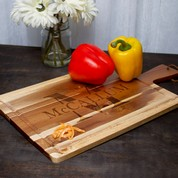 Nom de Famille Acacia Wood Engraved Gifts Carving Board